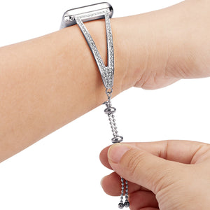 Ladies Diamond Stainless Steel Bracelet Band For Apple Watch