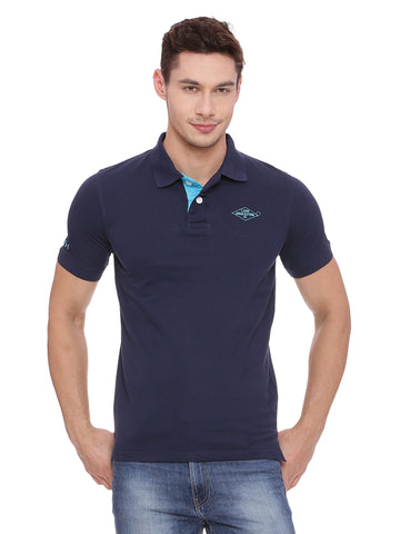 Classic Navy Blue polo in slim fit.
