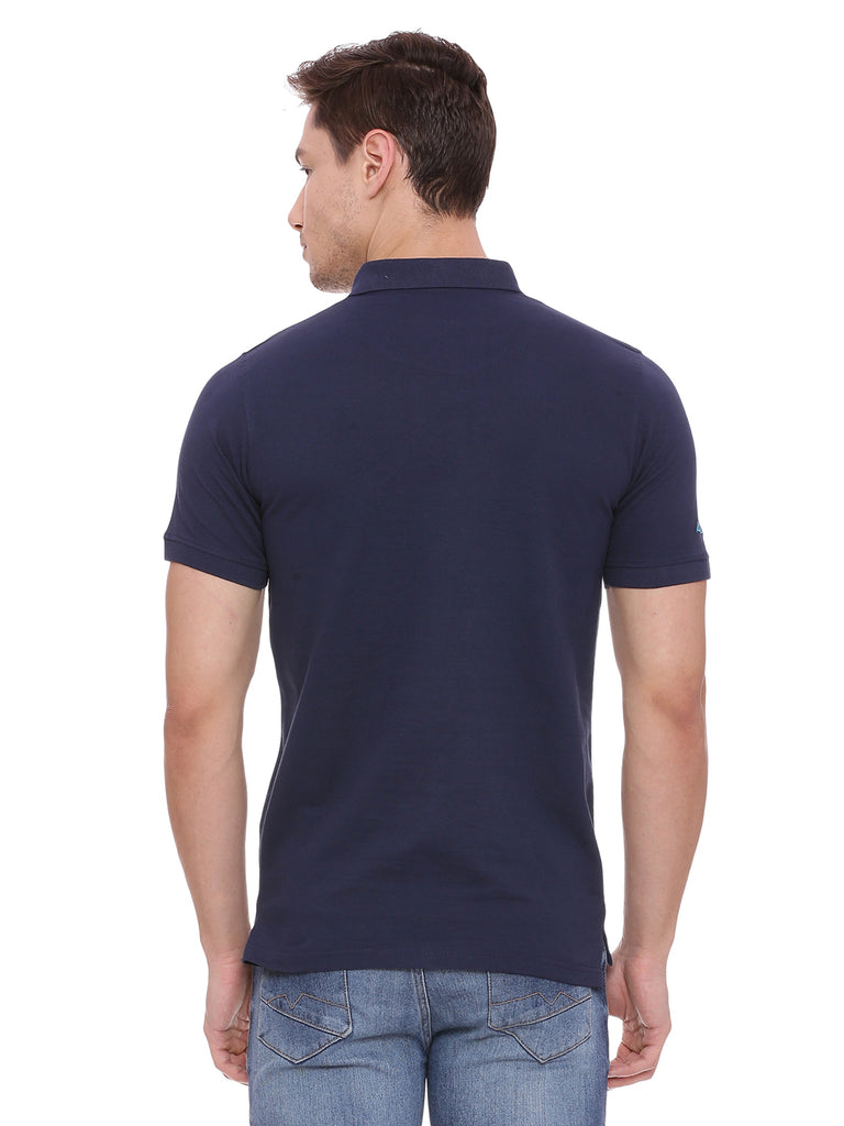 Classic Navy Blue polo in slim fit. - urban clothing co.