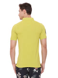 Classic Yellow polo in slim fit.