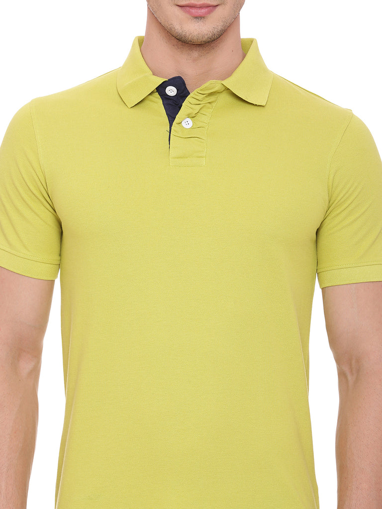 Classic Yellow polo in slim fit. - urban clothing co.