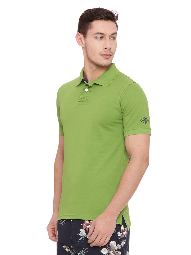 Classic Green polo in slim fit. - urban clothing co.