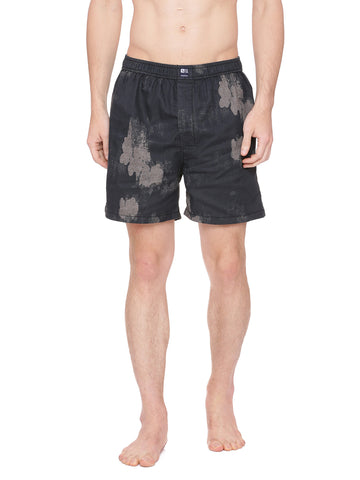 Black and beige printed boxer