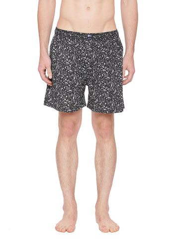 Black printed boxer