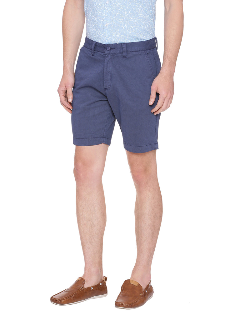 Self design shorts in color Blue - urban clothing co.