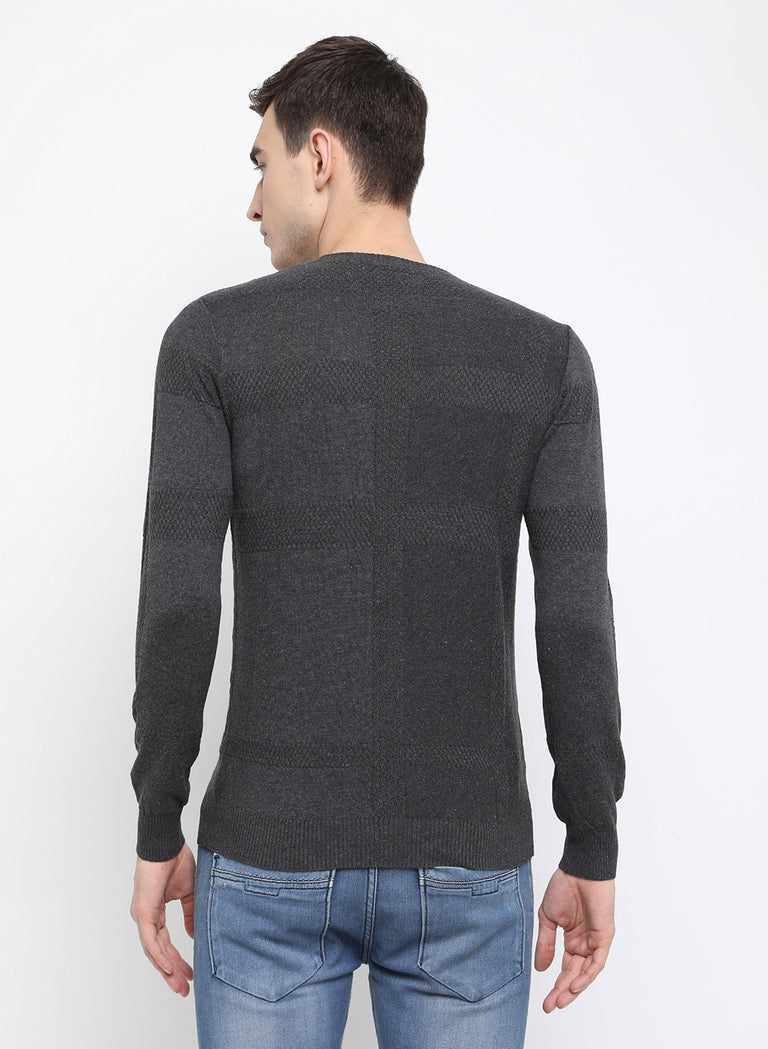 charcol Melange Sweater - urban clothing co.