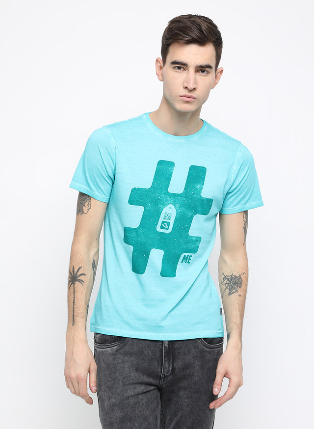 urban explorer aqua chest printed t shirt - urban clothing co.