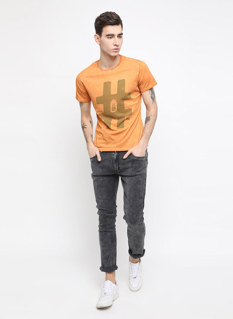 urban explorer rust chest printed t shirt - urban clothing co.