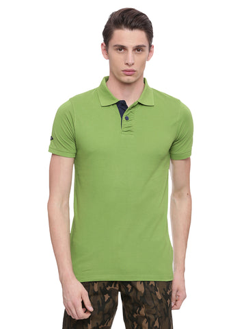 Classic Green polo in slim fit.
