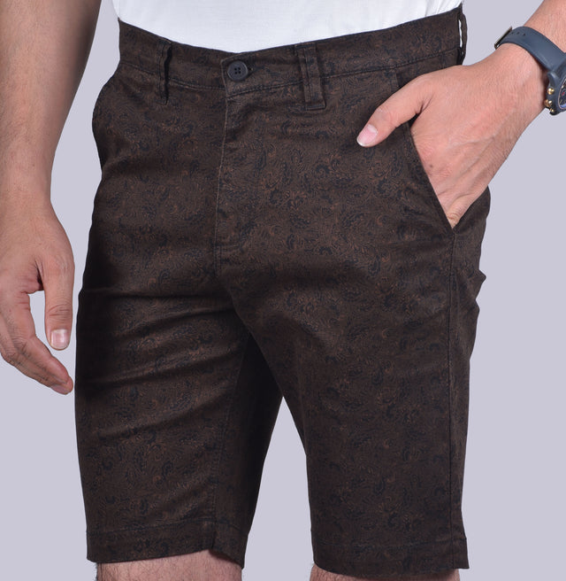 Olive Printed Shorts - urban clothing co.