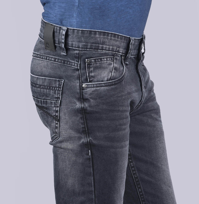 Dark gray slim fit denims