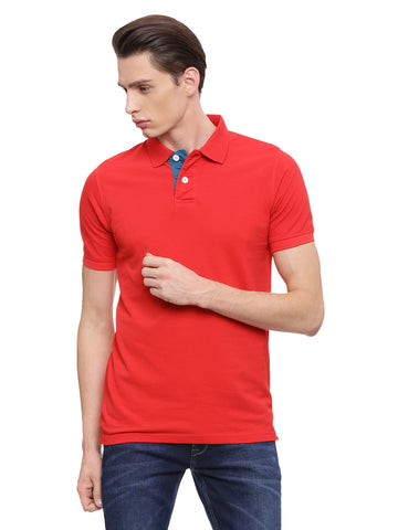 Classic Red polo in slim fit.