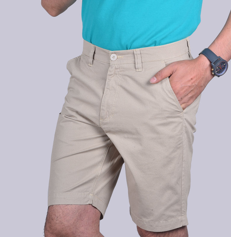 Beige Uber cool shorts.