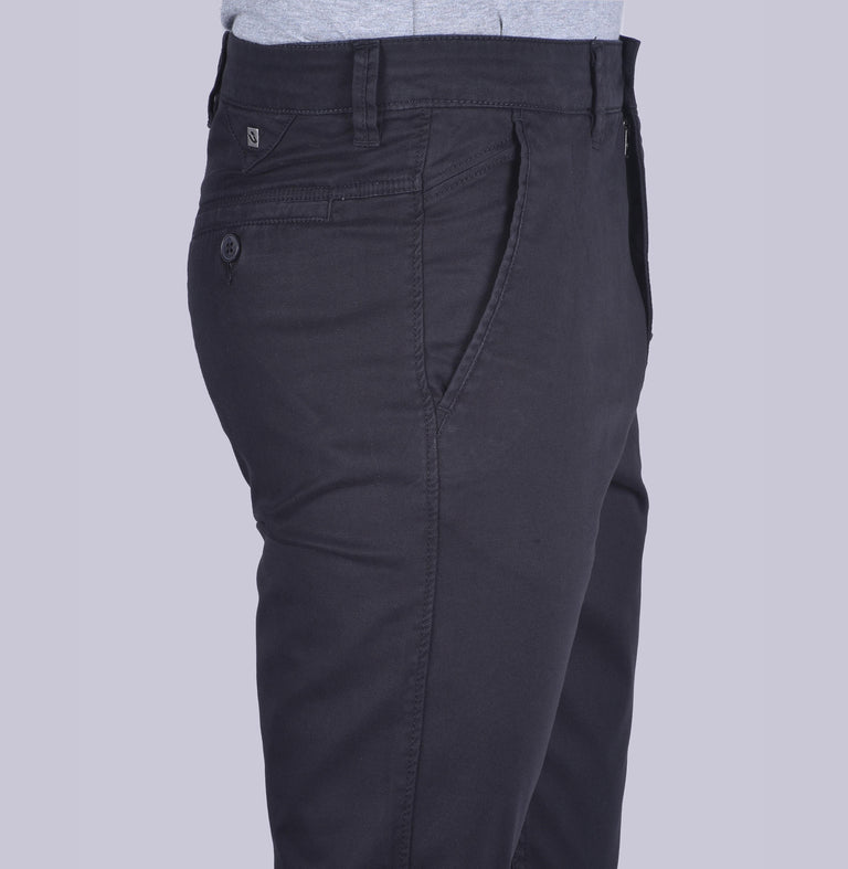Navy contour fit trousers - urban clothing co.