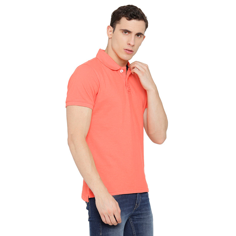 Peach Polo TShirt