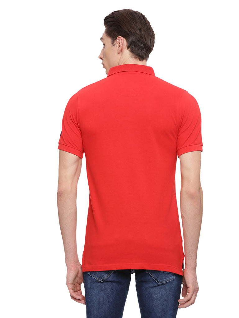 Classic Red polo in slim fit. - urban clothing co.