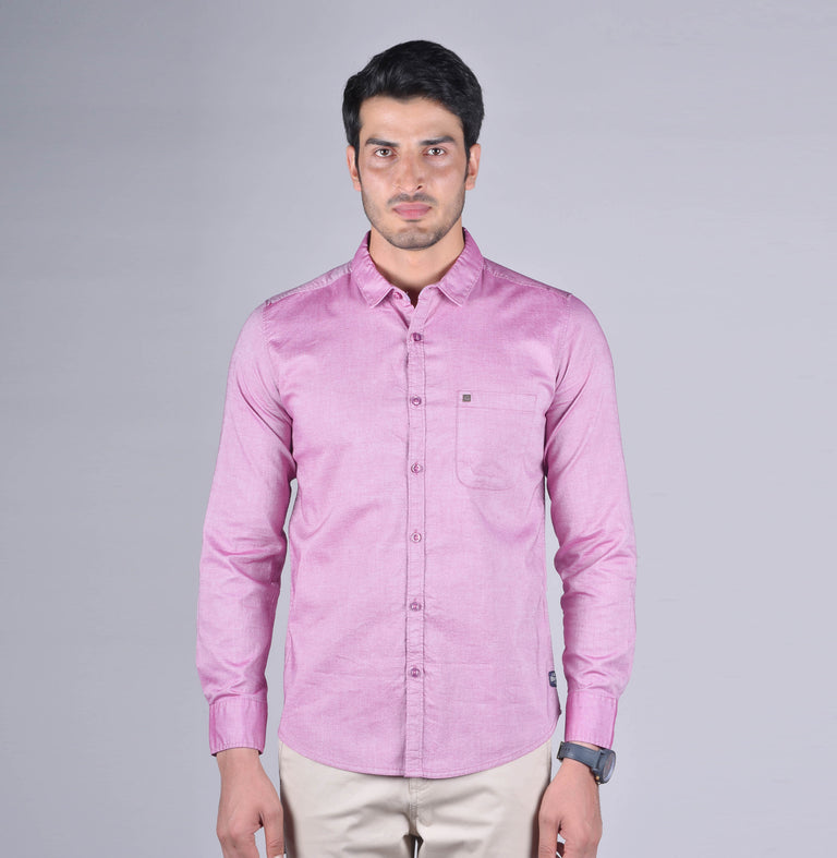 Pink solid oxford shirt