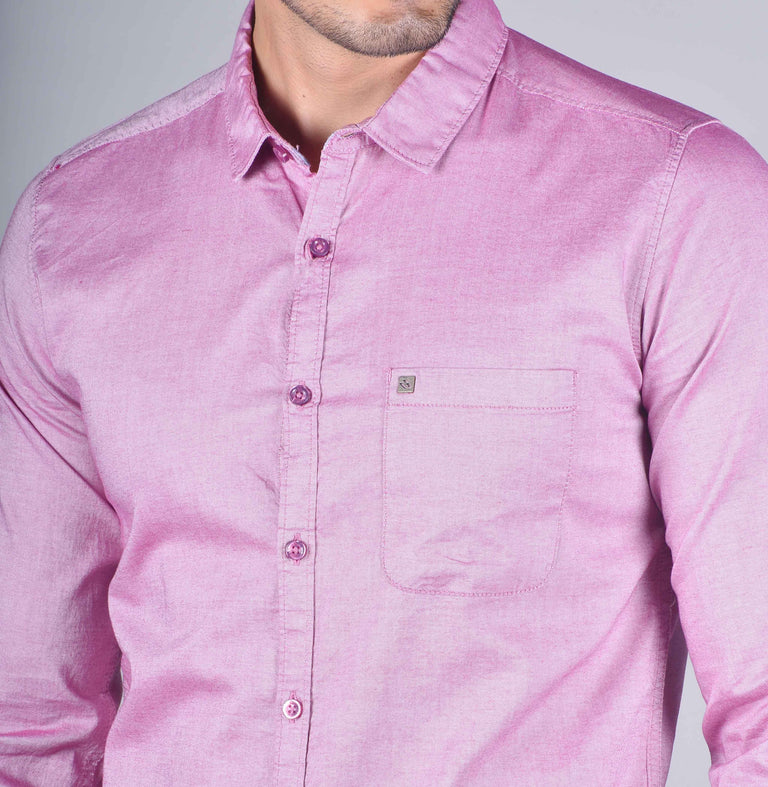 Pink solid oxford shirt - urban clothing co.