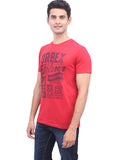 urban Chest printed tee in red