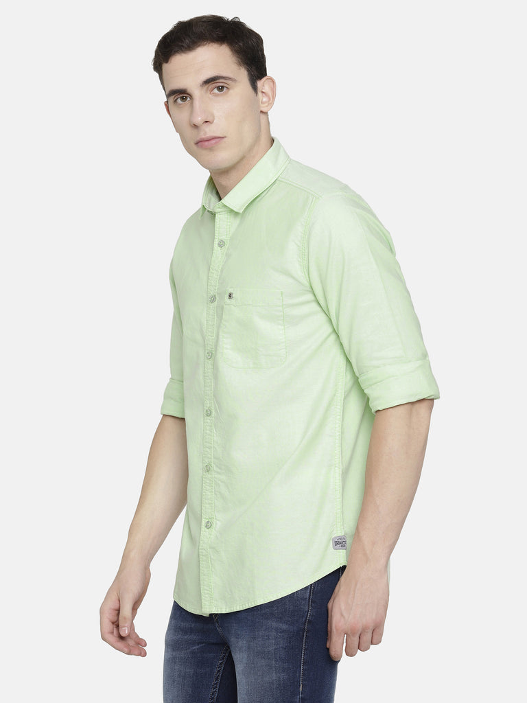 Lime Green Oxford smart Shirt
