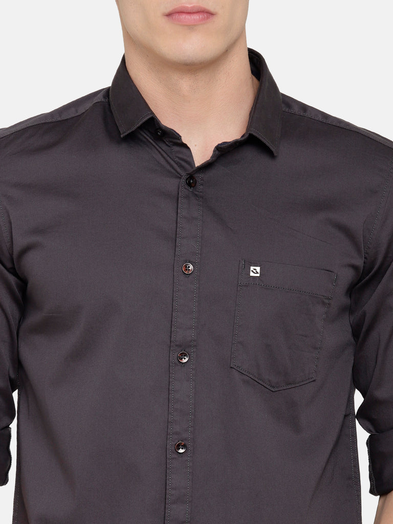 Dark Grey Shiny Shirt