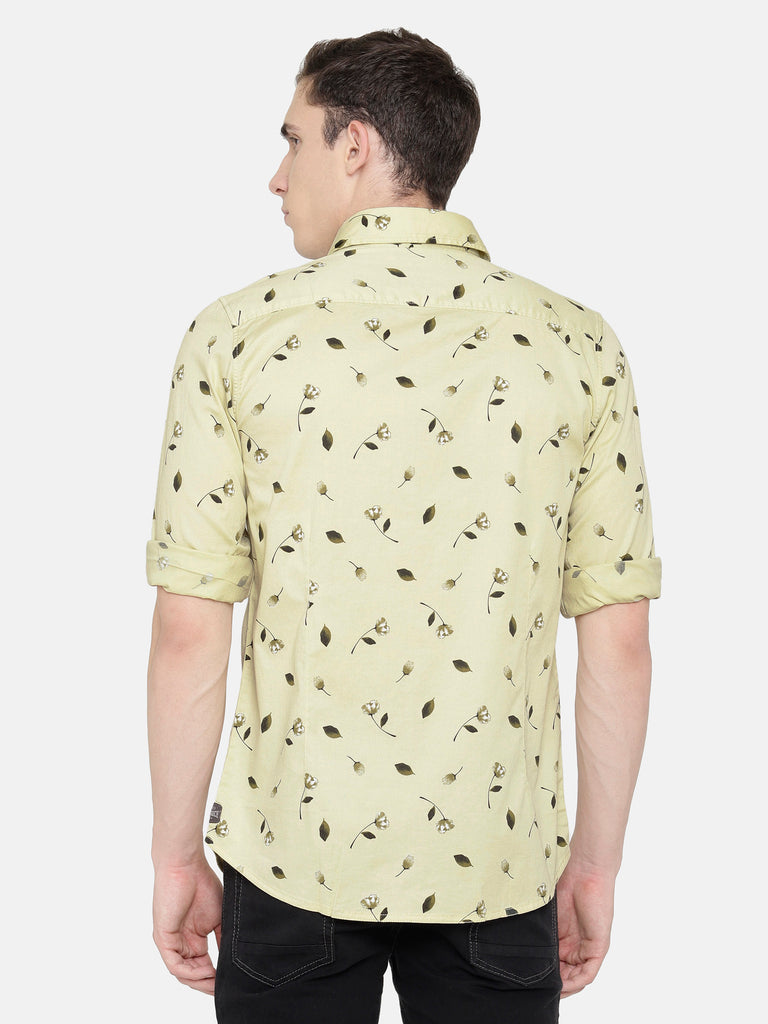 Light Yellow Printed Shirt