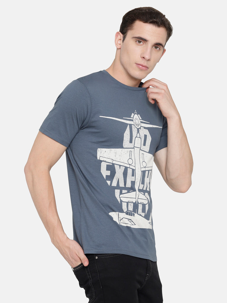 Navy Chest Printed T-Shirt