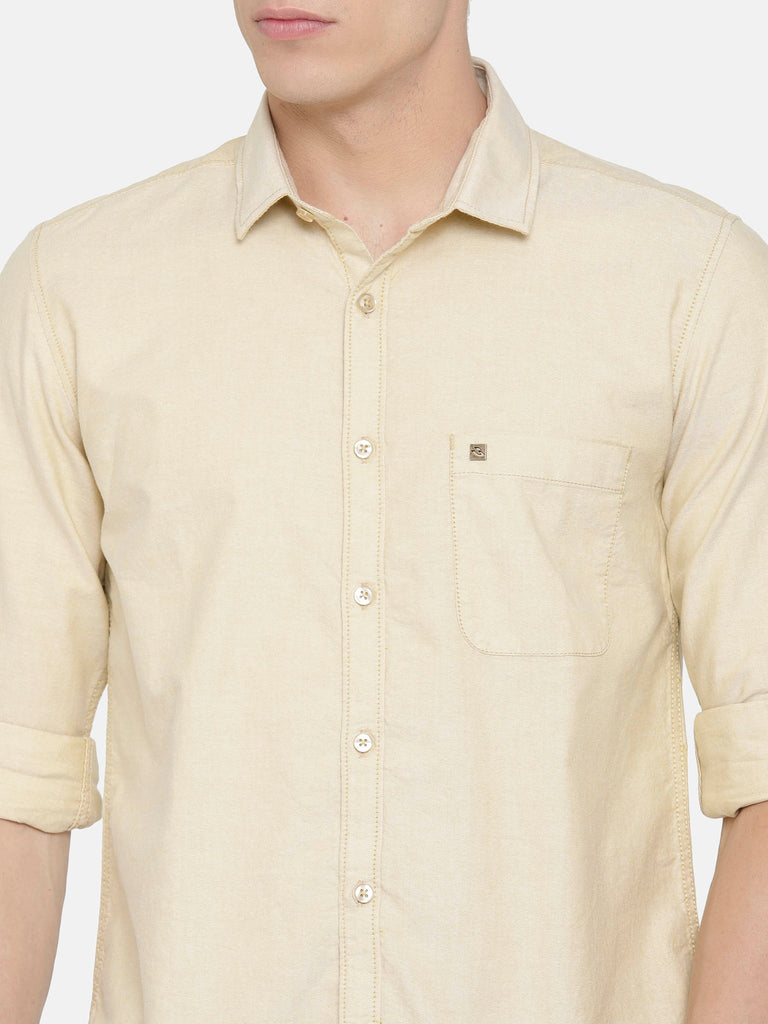 Beige Oxford smart Shirt