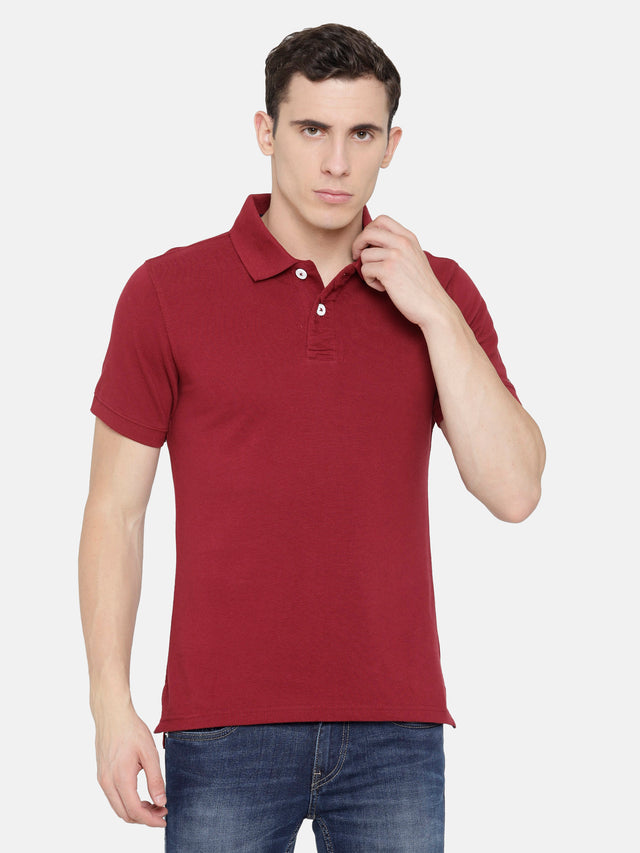 Maroon Polo T-Shirt