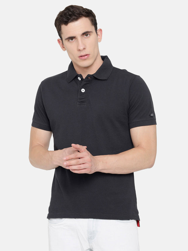 Dark Grey Polo T-Shirt