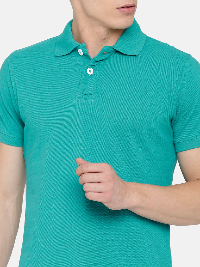 Aqua Green Polo T-Shirt