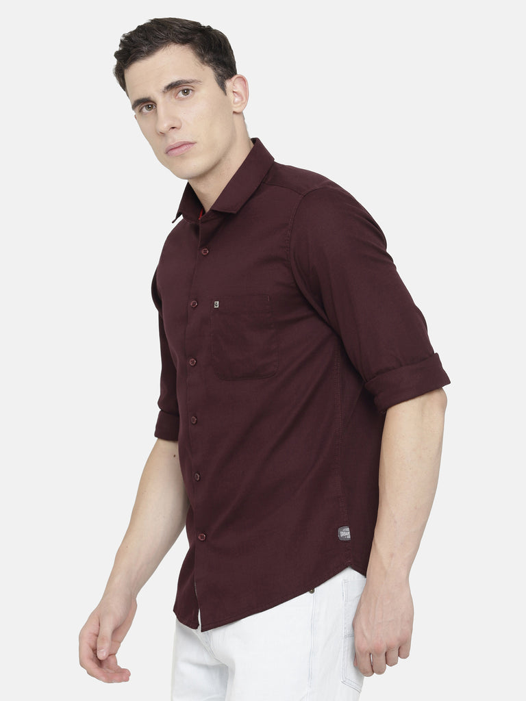 Dark Maroon Shirt