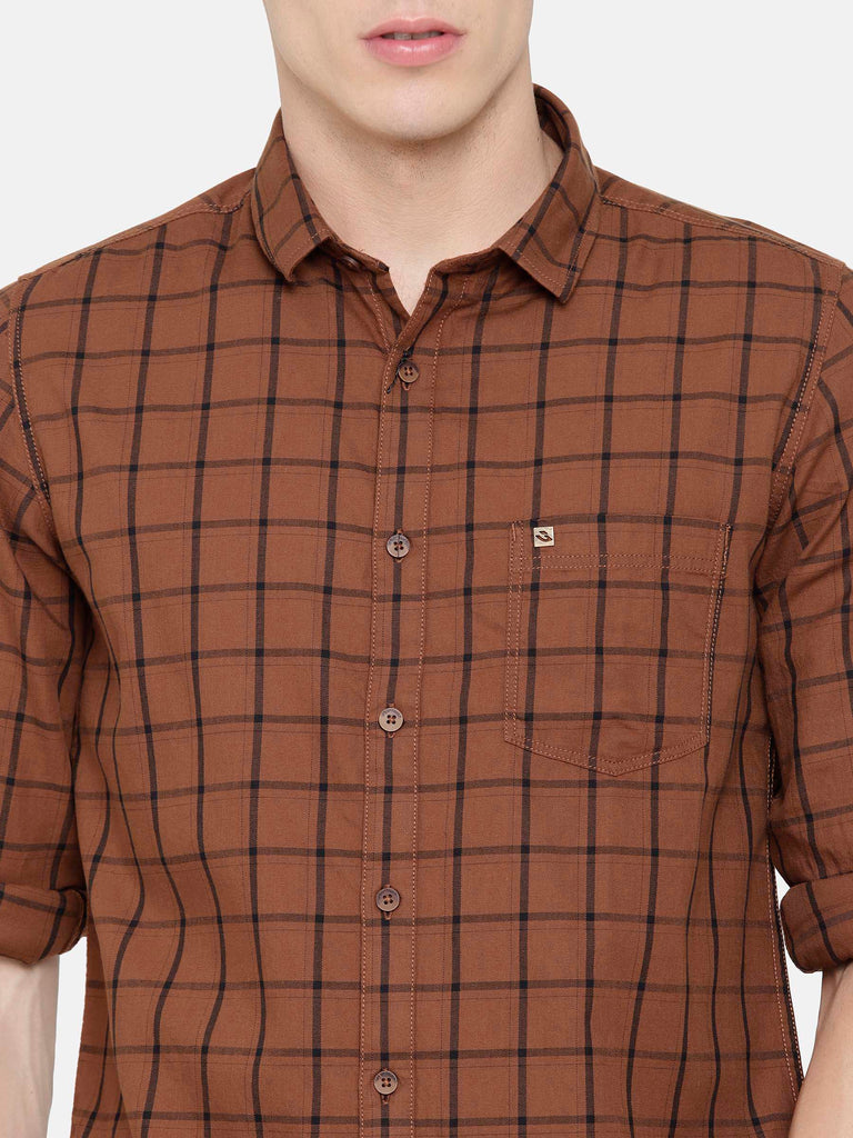 Brown Checkered Shirt