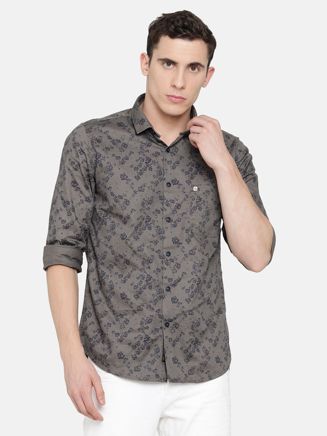 Dark Grey Printed Shirt