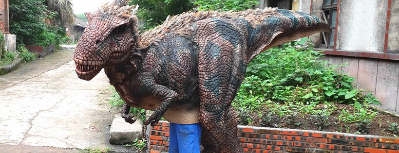 FEATHERED T-Rex IS ALIVE! DINOSAUR WITH FEATHERS SUIT