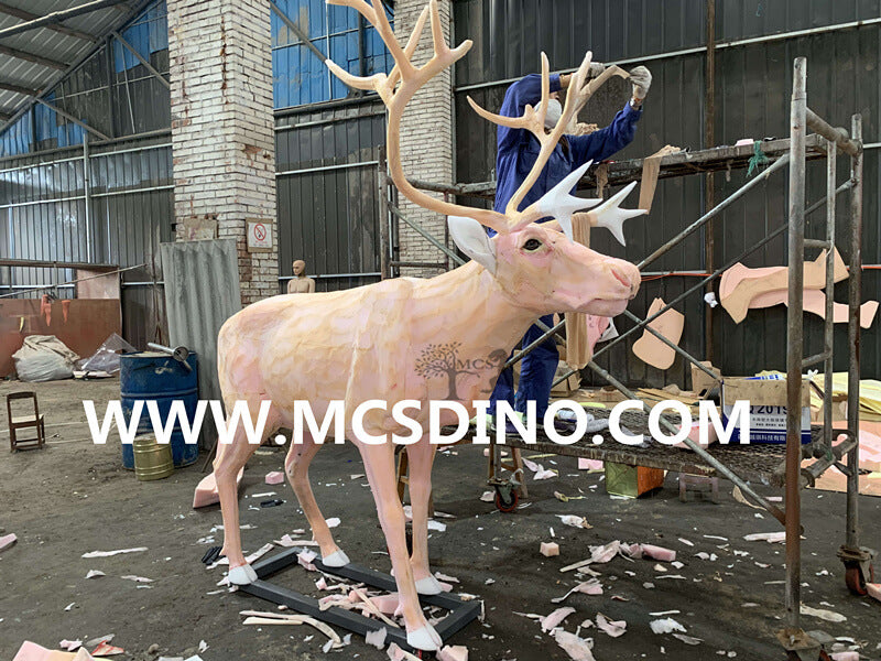 animatronic reindeer making process