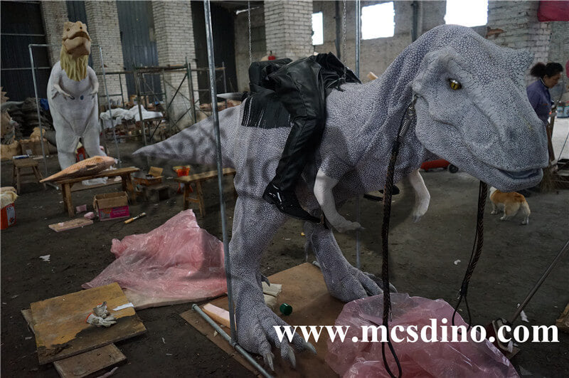 Cowboy Riding Dinosaur Rider Costume making process-skin texture