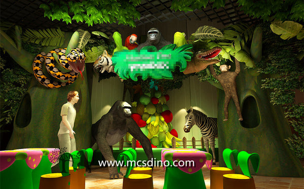 robotic animals jungle theme