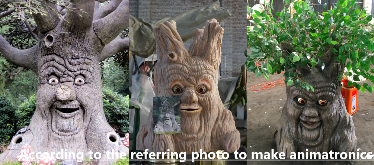 talking tree making process-According to the referring photo to make animatronics