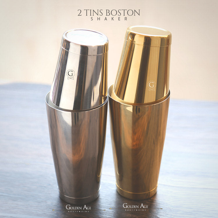 2 Tins Boston Shakers - Golden Age Bartending Bar Tools