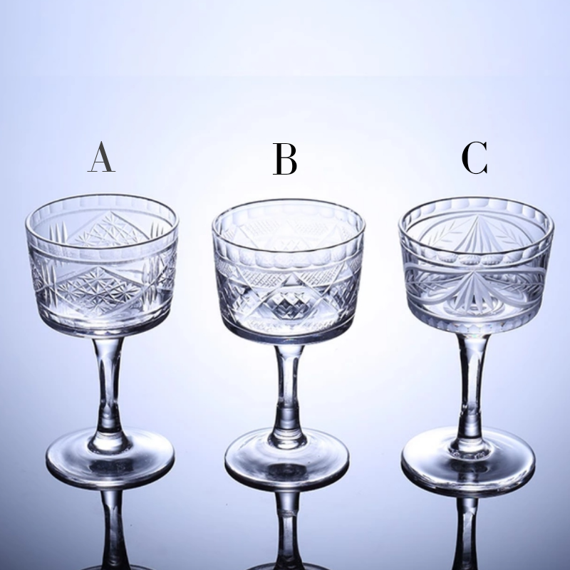 Japanese Cocktail Glass - different designs