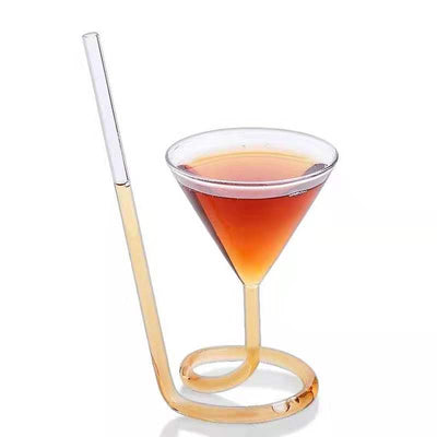 Straw Cocktail Glass - Golden Age Bartending Bar Tools