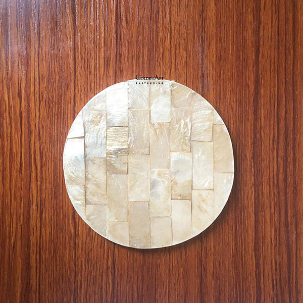 CLEARANCE! Coasters Golden Shell Round