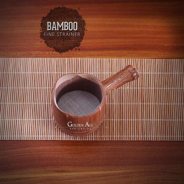 Bamboo Fine Strainer - Dark Brown - CHINA
