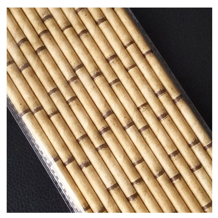 Deco straws x 10000 (400 packs) - BAMBOO - Golden Age Bartending Bar Tools