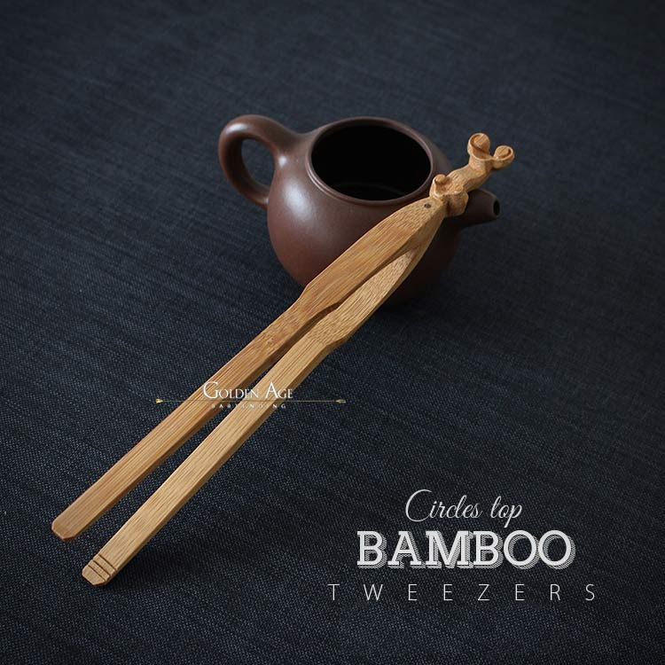 Bamboo Tweezers - Golden Age Bartending Bar Tools