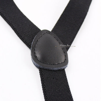 Single Suspenders Black - Golden Age Bartending Bar Tools