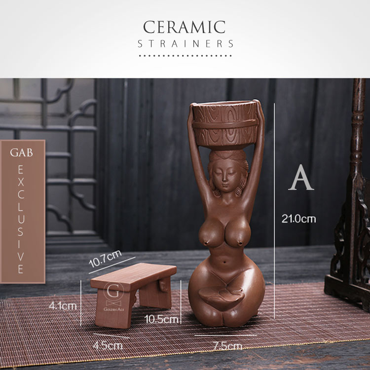 Ceramic Strainers - Goddess