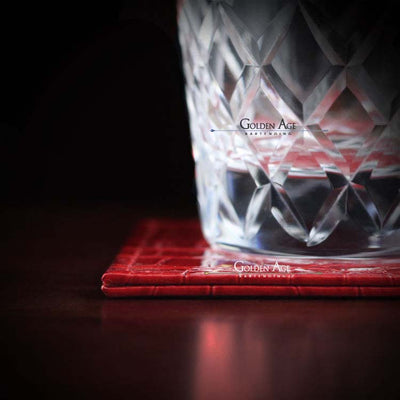 Vegan Coasters - Golden Age Bartending Bar Tools