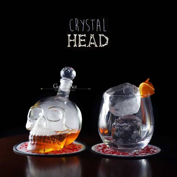 Skull Head Bottles - All sizes - Golden Age Bartending